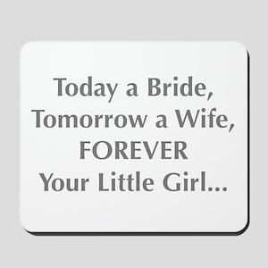 Bride Poem to Parents Mousepad
