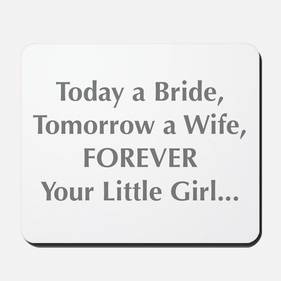 Bride Poem to Parents Mousepad