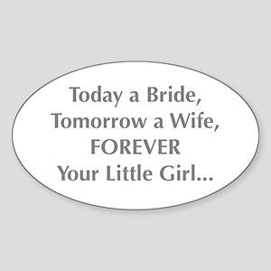 Bride Poem to Parents Sticker
