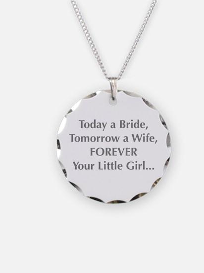 Bride Poem to Parents Necklace