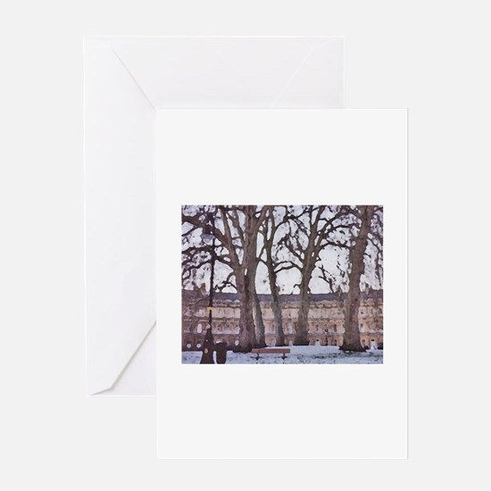 Winter in Bath Greeting Cards