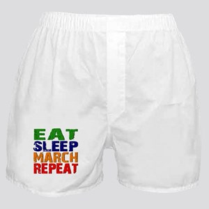 Eat Sleep March Repeat Boxer Shorts