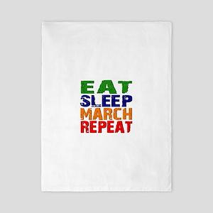 Eat Sleep March Repeat Twin Duvet