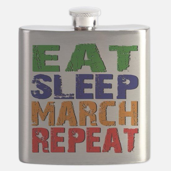 Eat Sleep March Repeat Flask
