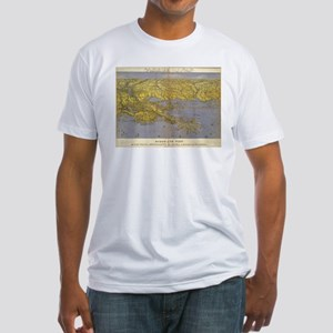 Vintage Pictorial Map of The Gulf (1861) T-Shirt