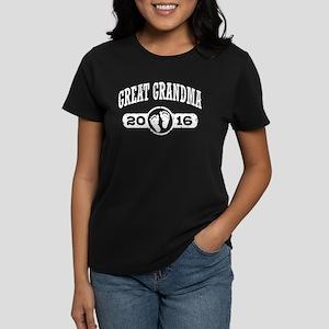 Great Grandma 2016 Women's Dark T-Shirt