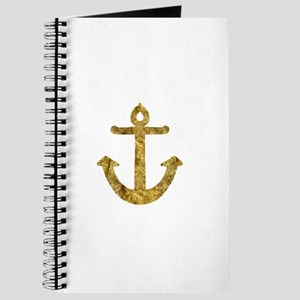 Gold Nautical Anchor Journal