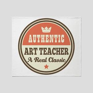 Art Teacher Funny Vintage Throw Blanket