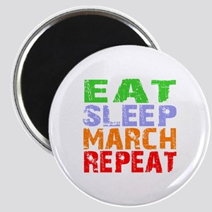 Eat Sleep March Repeat Dark Magnet