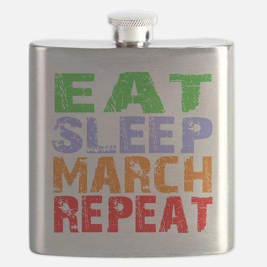 Eat Sleep March Repeat Dark Flask