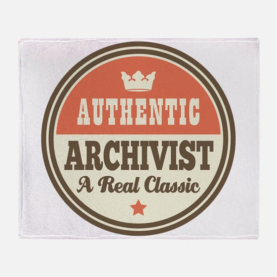 Archivist Funny Vintage Throw Blanket