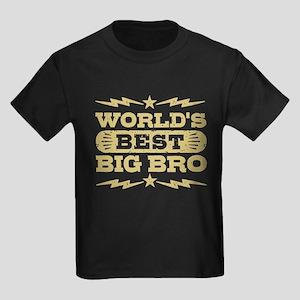 World's Best Big Bro Kids Dark T-Shirt