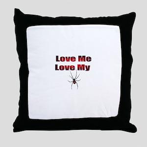 Spyder Red Throw Pillow