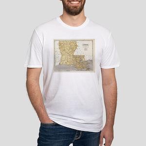 Vintage Map of Louisiana (1845) T-Shirt