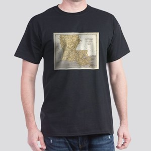 Vintage Map of Louisiana (1845) T-Shirt