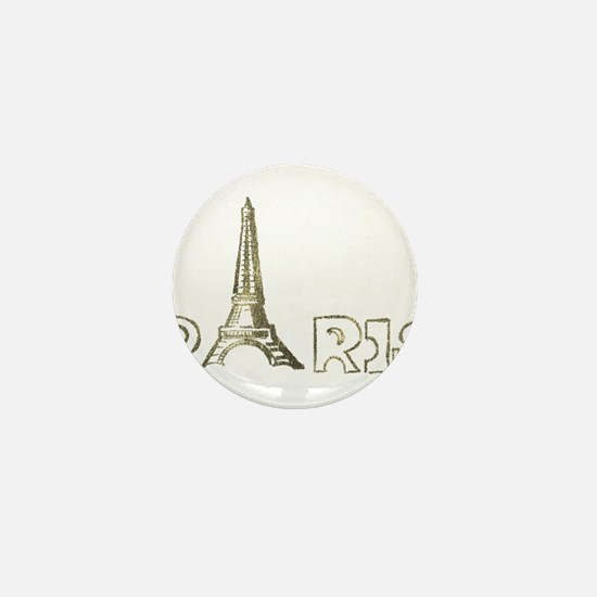 Paris Eiffel Foil 02 Mini Button