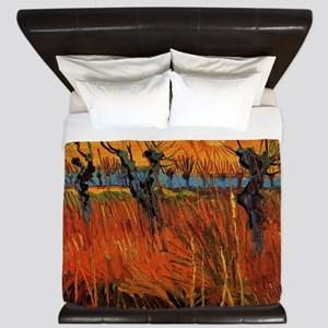Van Gogh Willows at Sunset King Duvet