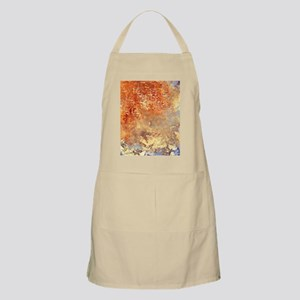 Abstract in Red, Yellow, and Smoke Apron
