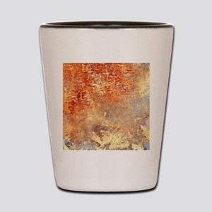 Abstract in Red, Yellow, and Smoke Shot Glass