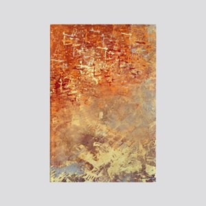 Abstract in Red, Yellow, and Smok Rectangle Magnet