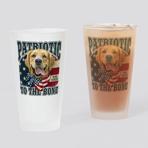 Patriotic Golden Drinking Glass