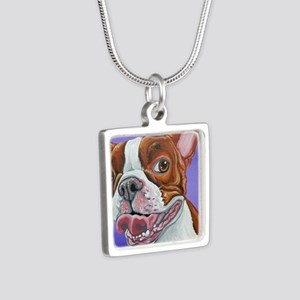Red Boston Terrier Necklaces