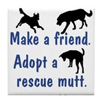 Adopt A Mutt Tile Coaster