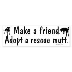 Adopt A Mutt Bumper Bumper Sticker