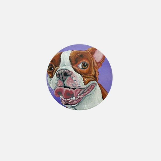 Red Boston Terrier Mini Button