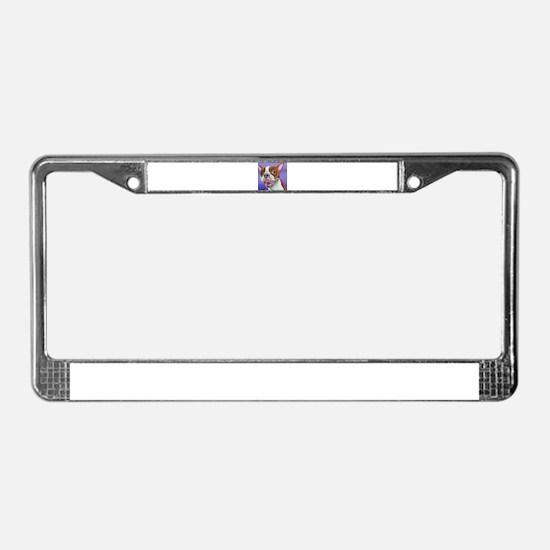Red Boston Terrier License Plate Frame