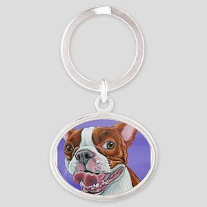 Red Boston Terrier Keychains