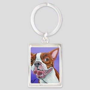 Red Boston Terrier Keychains