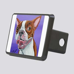 Red Boston Terrier Rectangular Hitch Cover