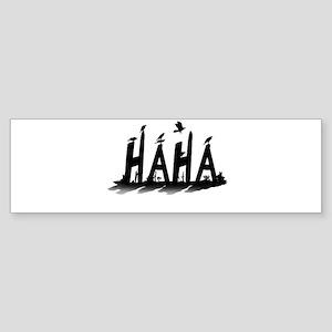 HAHA - B/W Bumper Sticker