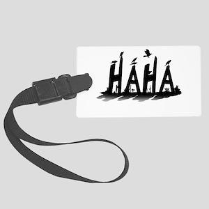 HAHA - B/W Luggage Tag