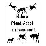 Adopt A Mutt Small Poster