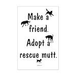 Adopt A Mutt Mini Poster Print
