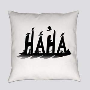 HAHA - B/W Everyday Pillow