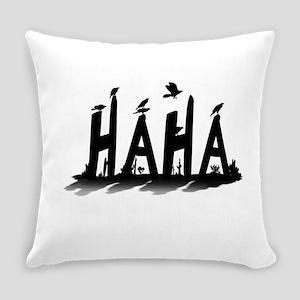 HAHA - B/W Everyday Pillow