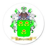Marguerin Round Car Magnet