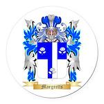 Margretts Round Car Magnet