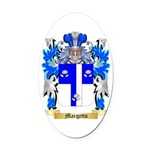 Margetts Oval Car Magnet