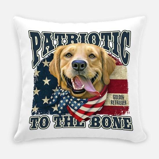 Patriotic Golden Everyday Pillow