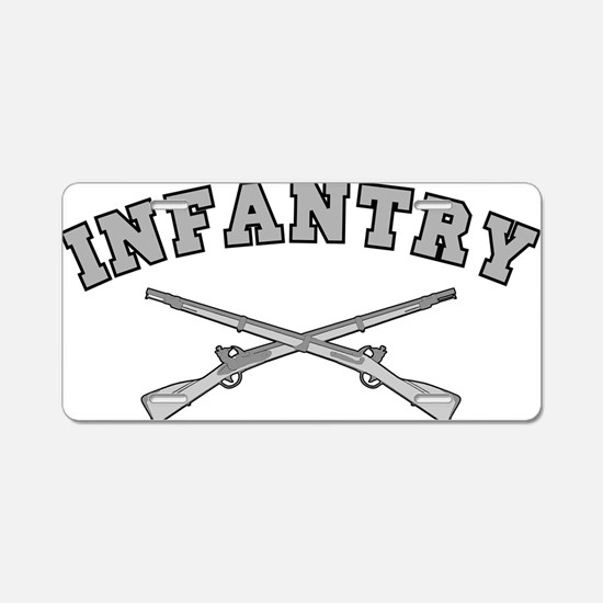 ARMY INFANTRY CROSSED RIFLE Aluminum License Plate
