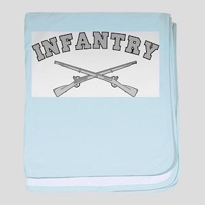 ARMY INFANTRY CROSSED RIFLES baby blanket