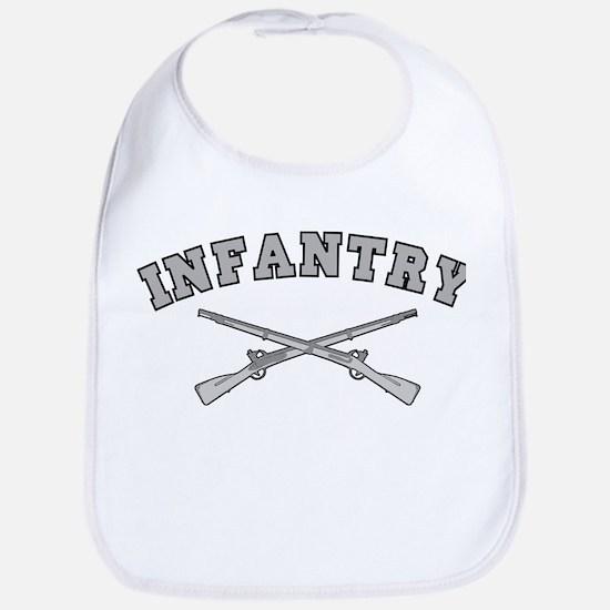 ARMY INFANTRY CROSSED RIFLES Bib