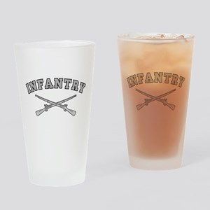 ARMY INFANTRY CROSSED RIFLES Drinking Glass