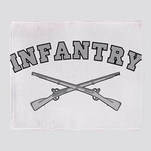 ARMY INFANTRY CROSSED RIFLES Throw Blanket