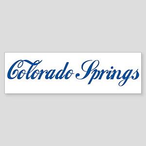 Colorado Springs (cursive) Bumper Sticker