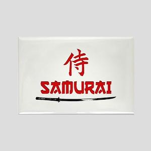 Samurai Kanji and text Rectangle Magnet
